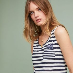 NWT Anthropologie | Striped Pocket Tank